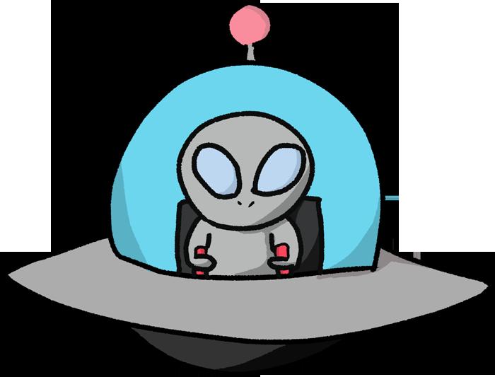 小型UFOのイラスト