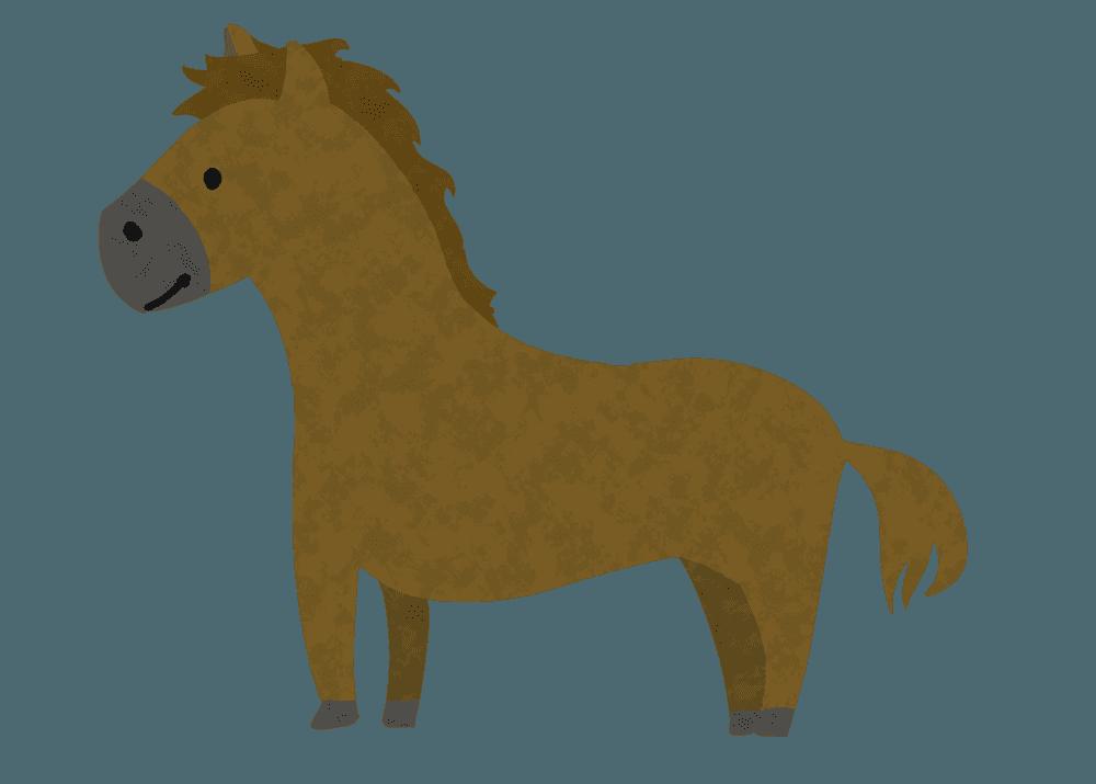 可愛い馬イラスト