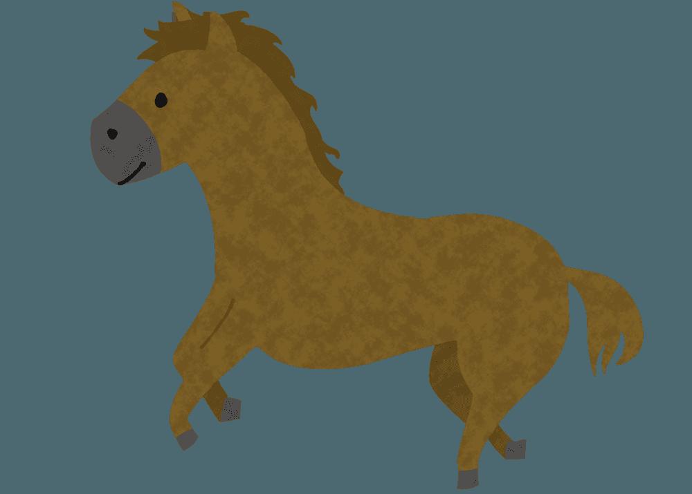 走る馬イラスト