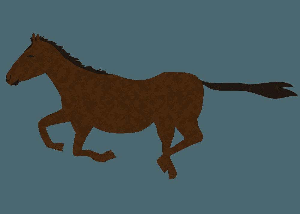 駆け抜ける馬イラスト
