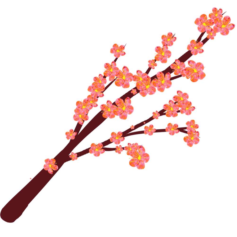 梅の花と木のイラスト