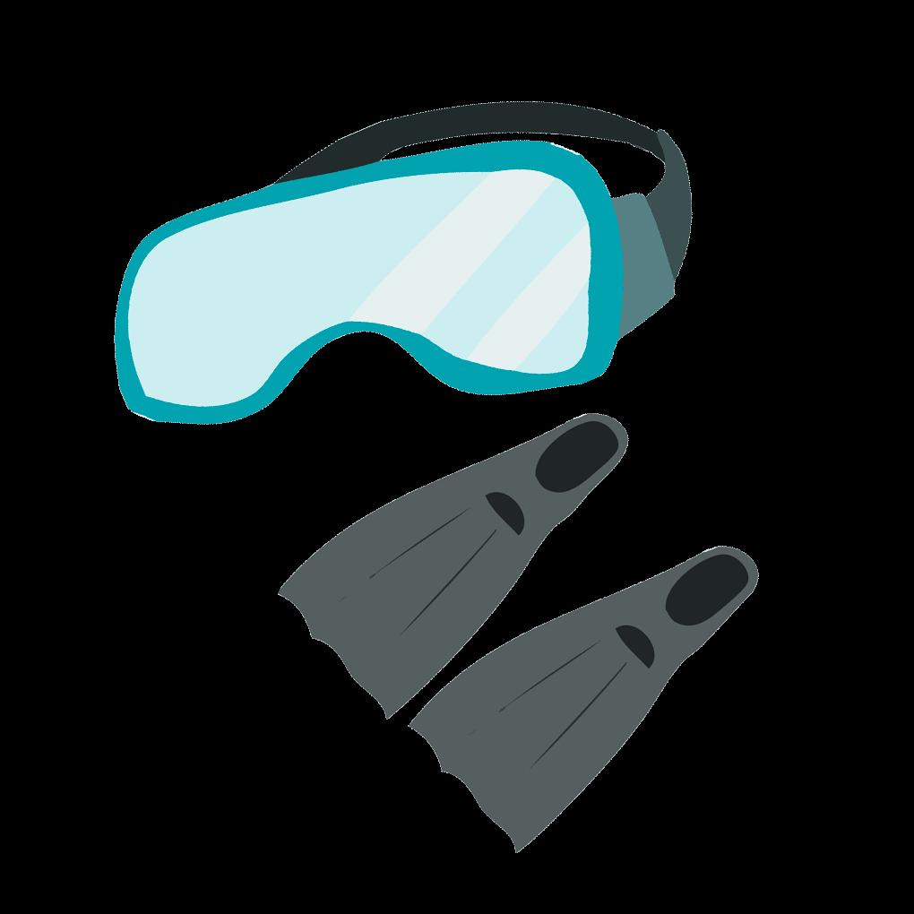 シュノーケル・水中眼鏡のイラスト