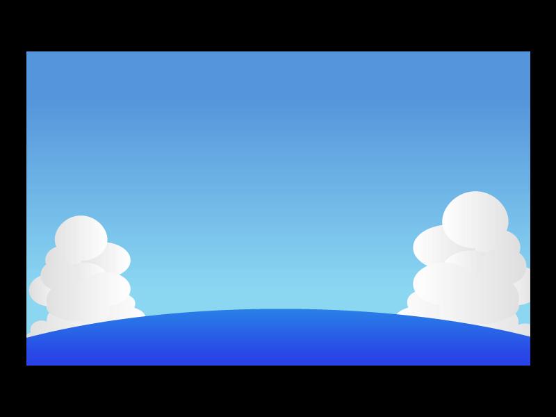 海と入道雲の風景イラスト