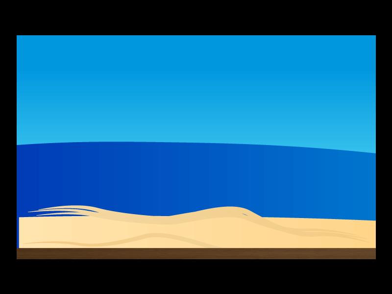 海と砂浜背景のイラスト