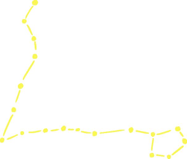 魚座のラフな星図イラスト