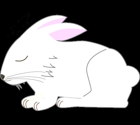 寝るうさぎのイラスト