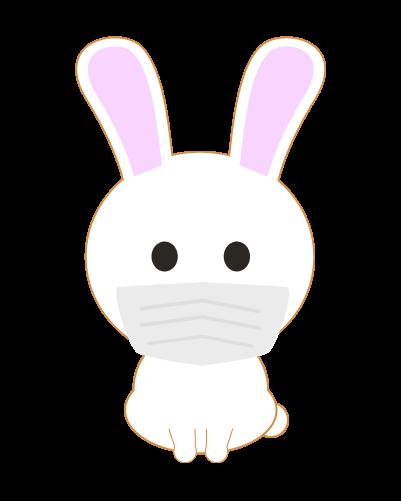 マスクうさぎのイラスト