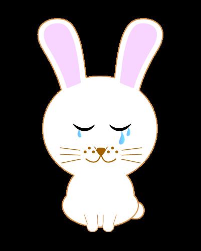 泣くうさぎのイラスト
