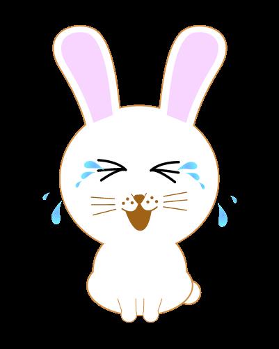 大泣きうさぎのイラスト