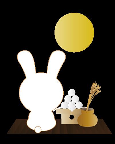 お月見うさぎのイラスト
