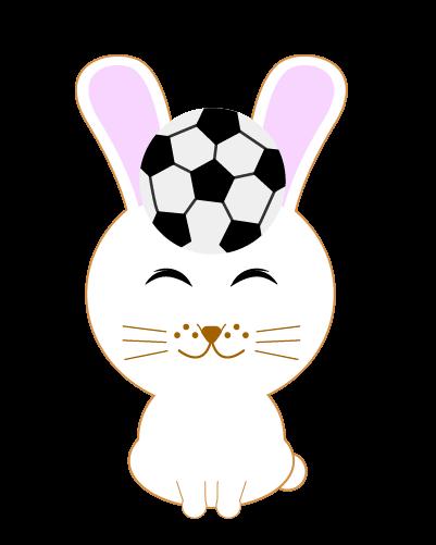 サッカーうさぎのイラスト