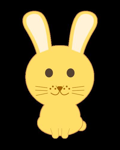 黄うさぎのイラスト