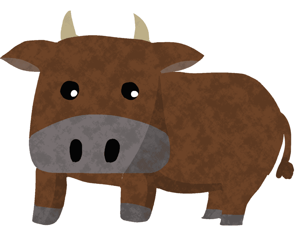 茶色の和牛イラスト