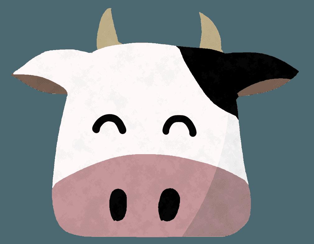 笑顔の牛イラスト