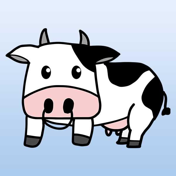 牛のベクター(eps)イラスト