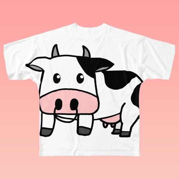 牛のビックプリントTシャツ
