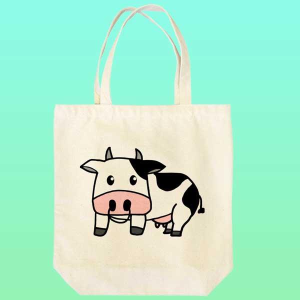 牛のイラストトートバッグ