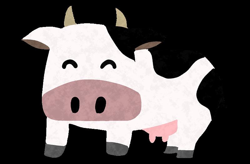 可愛い牛のキャラクター