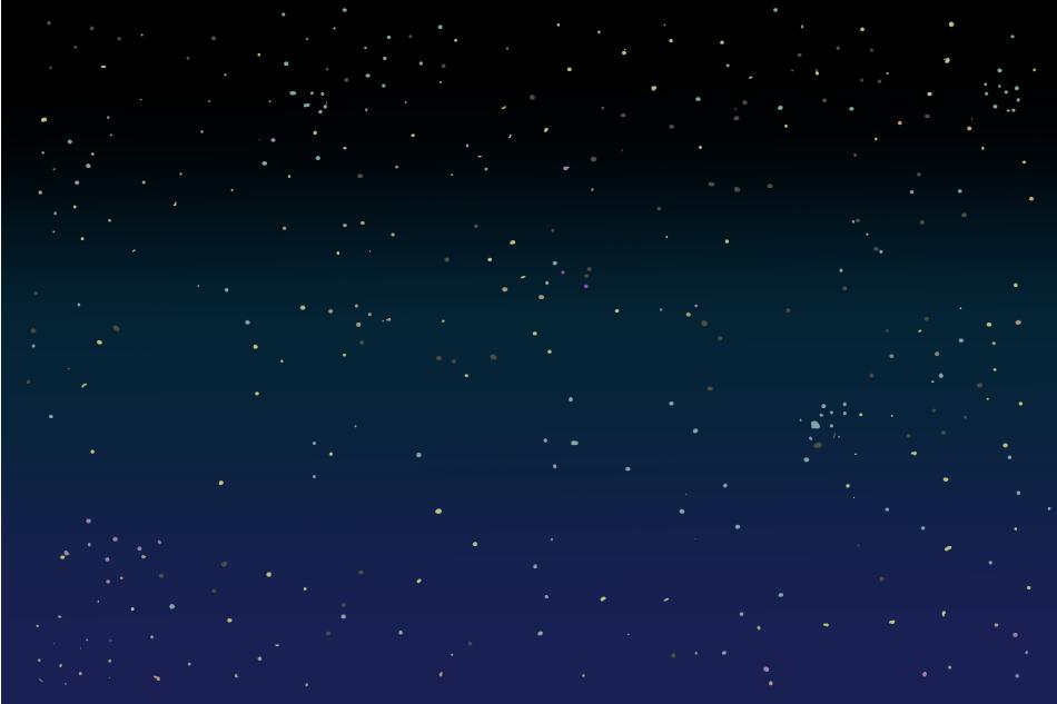 シンプルな宇宙の背景イラスト