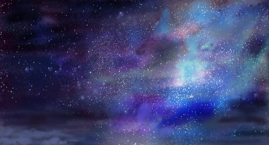 リアルな宇宙の背景イラスト