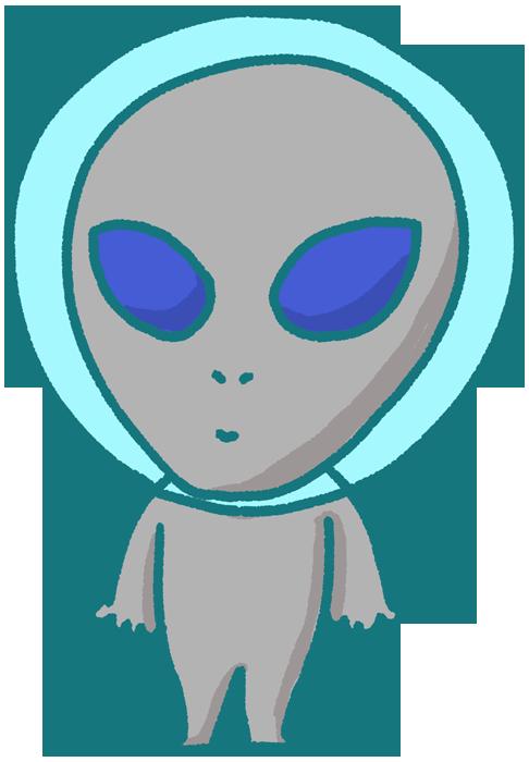 人型タイプの宇宙人のイラスト