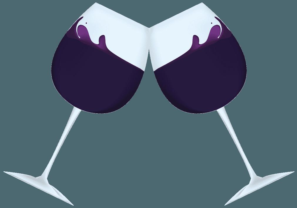 揺れるワインのイラスト