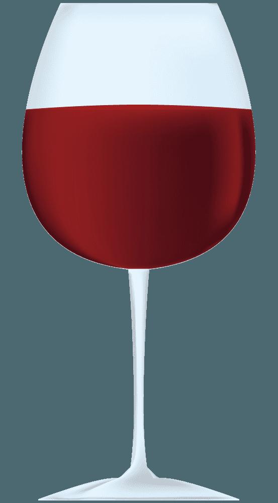 おしゃれな赤ワインのイラスト