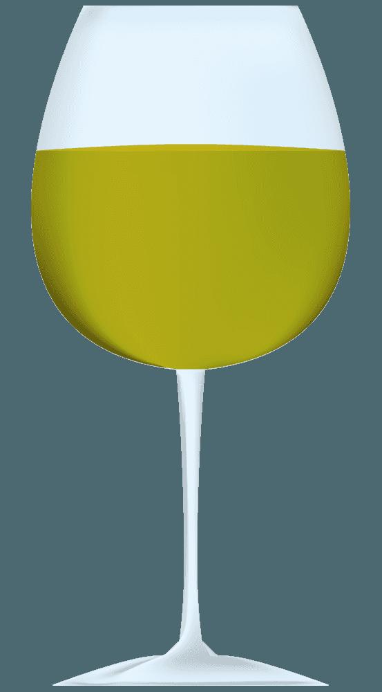 黄色いワインイラスト