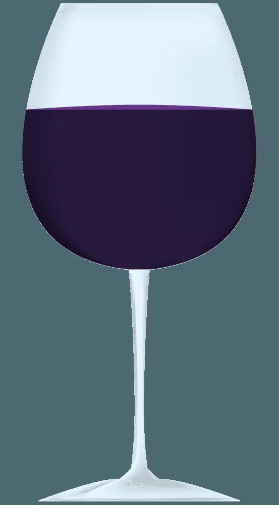 濃い紫色のワインのイラスト