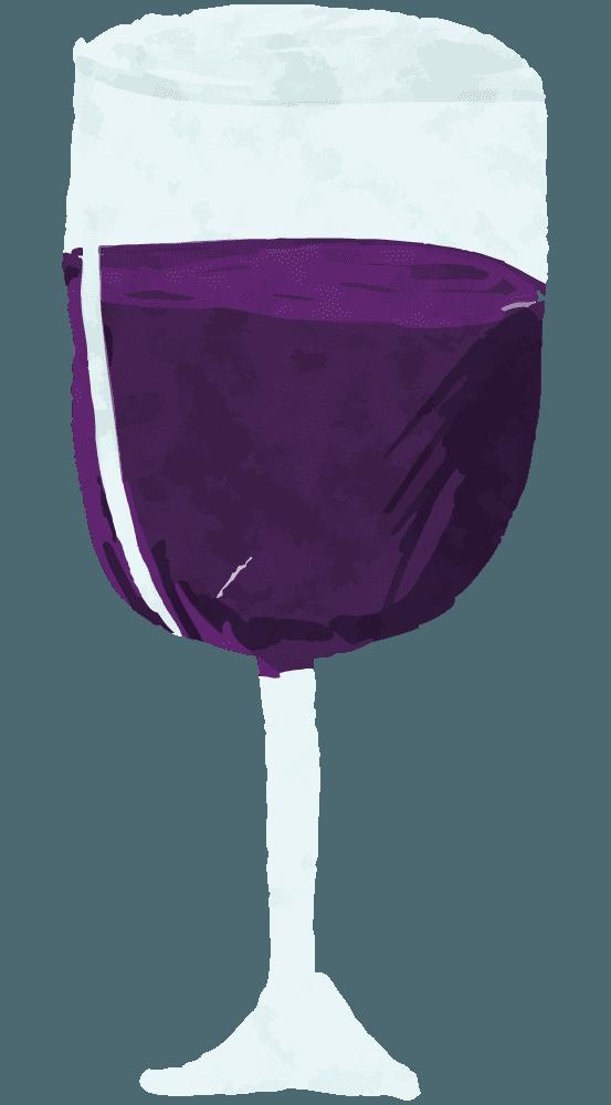 ラフな手描きのワインイラスト