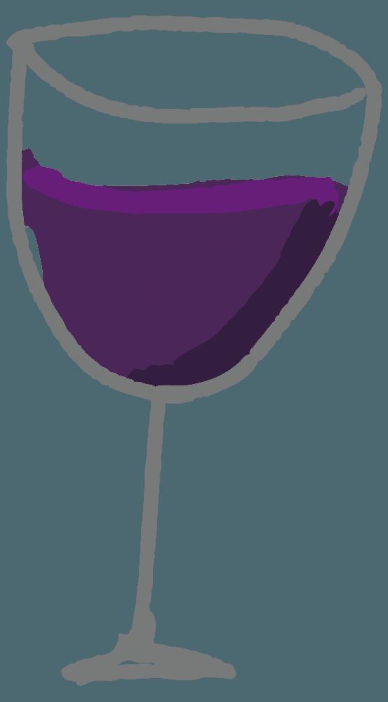 シンプルな手描きのワインイラスト