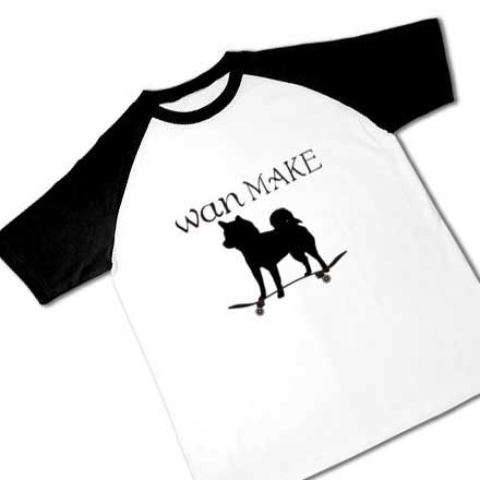 ラグランとスケーター柴犬Tシャツ