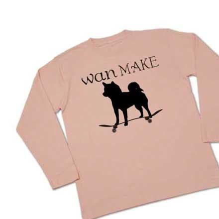 長袖柴犬スケーターTシャツ。