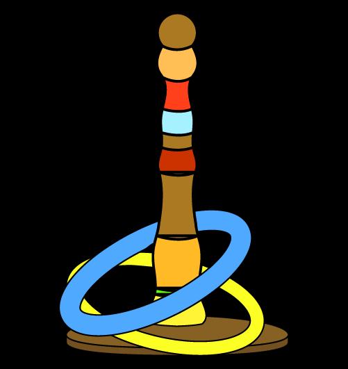 輪投げ(線あり)のイラスト
