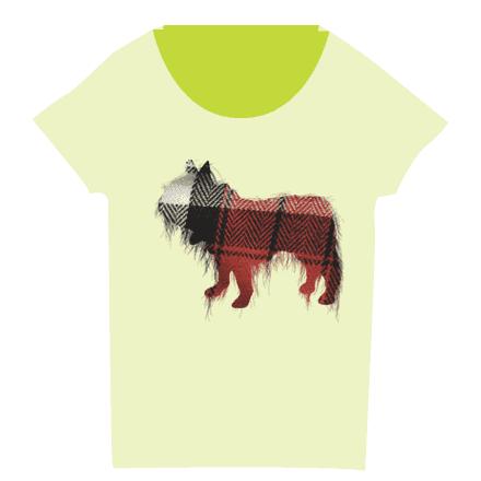 イエローレディースのフレブルワッペンTシャツ
