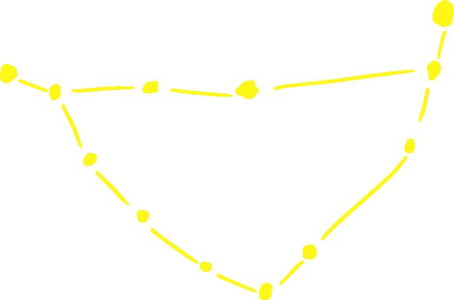 山羊座のアートな星図イラスト