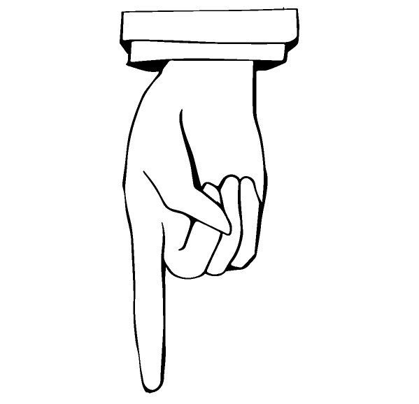指差し矢印(下)
