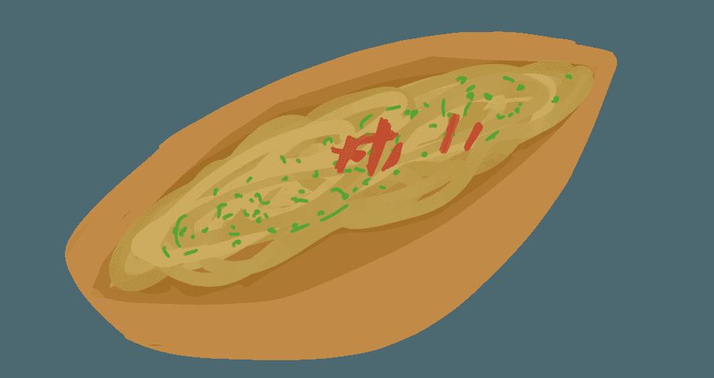 焼きそばパンのイラスト