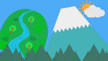 山イラスト - 可愛い富士山や手描き風のやまの無料素材