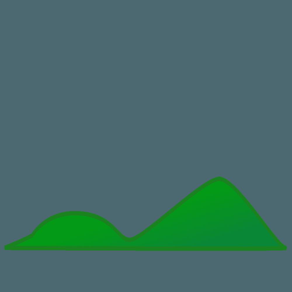 低い山イラスト