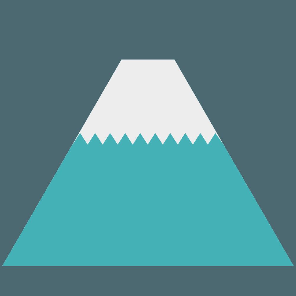 大きめの富士山イラスト
