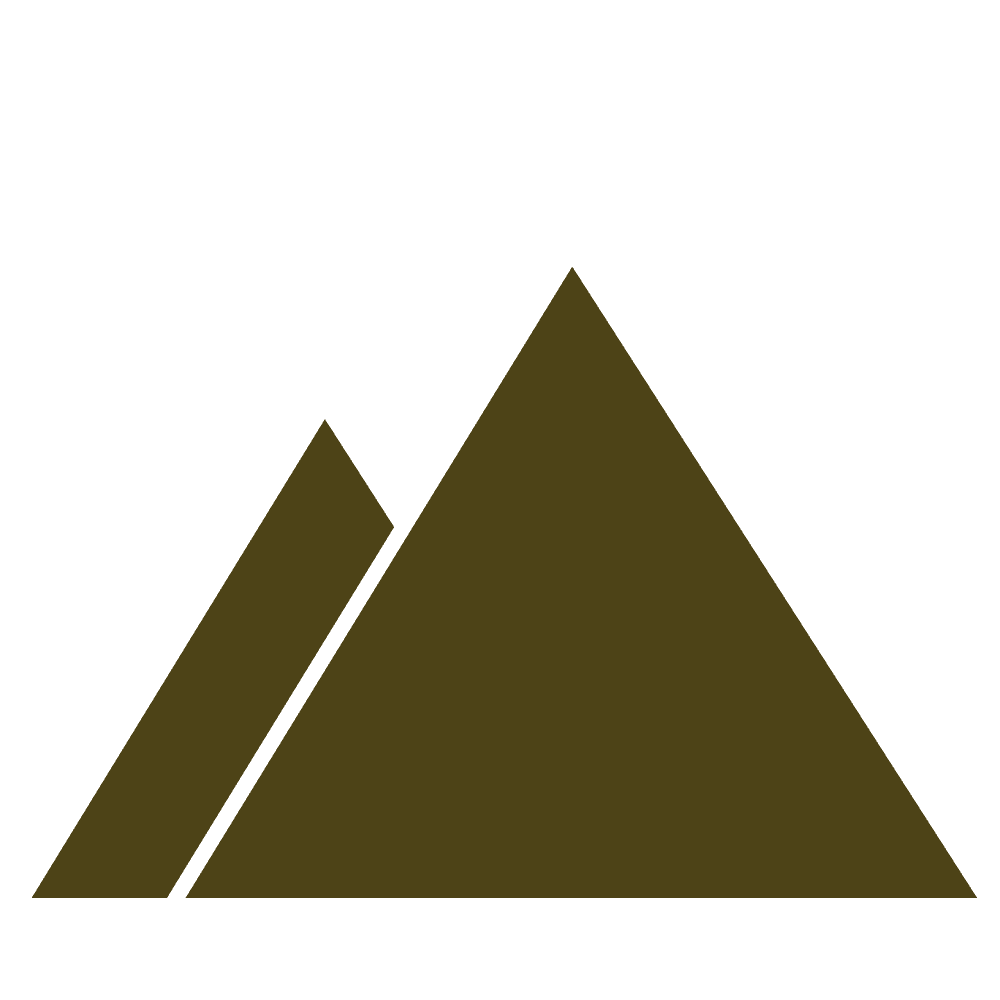 茶色の山のマークイラスト
