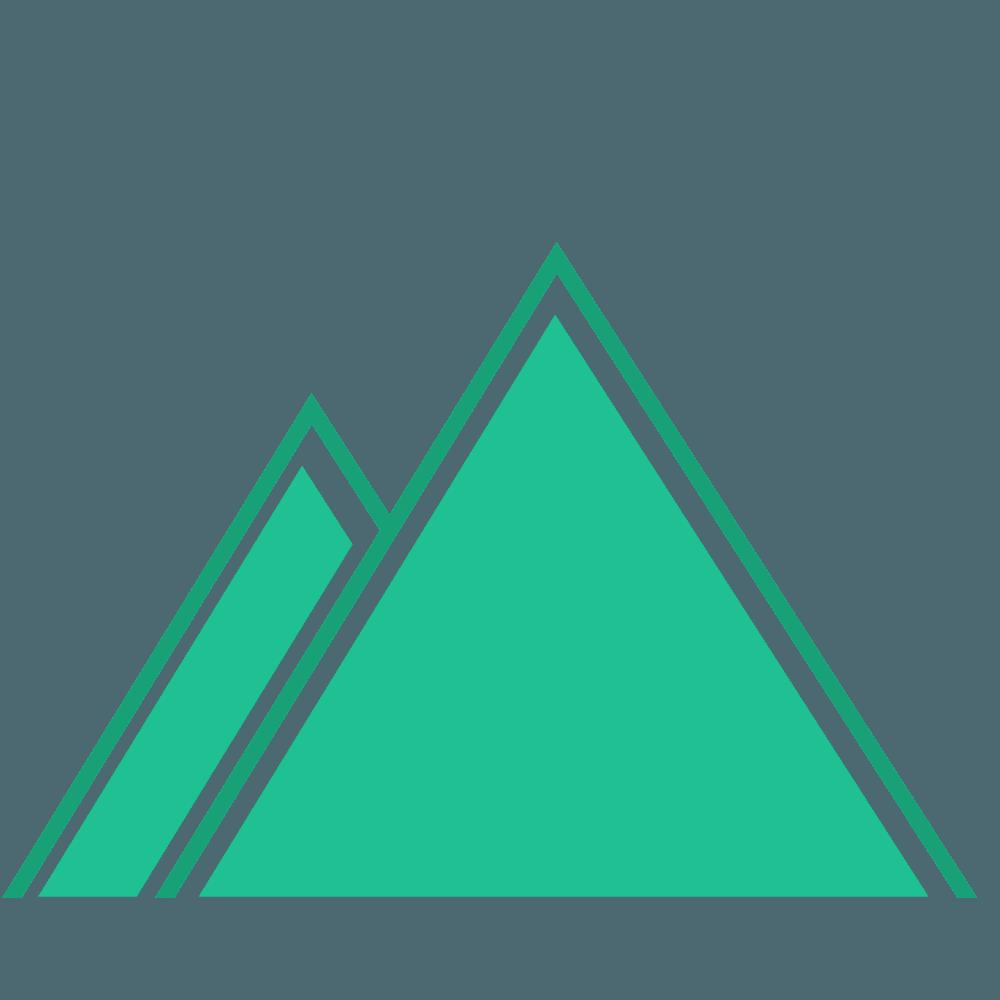 フォレストグリーンの山イラスト
