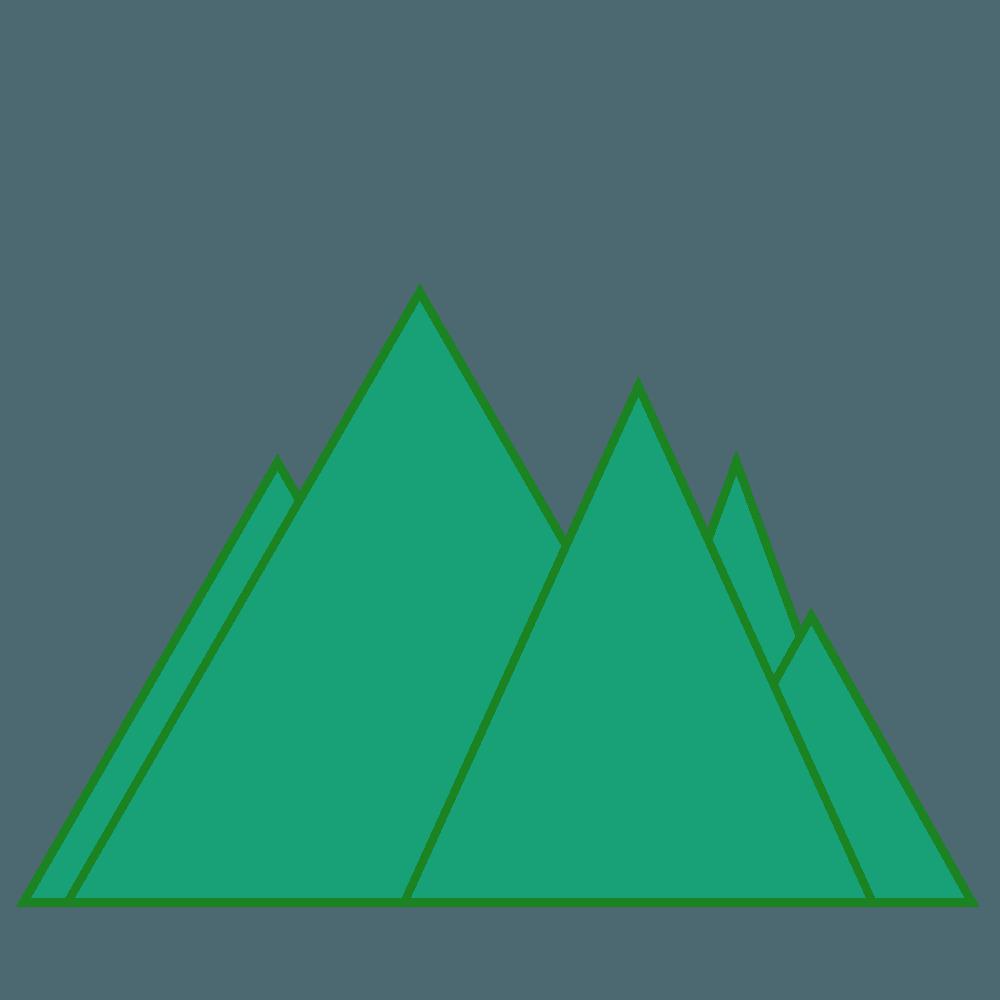 なる山々のイラスト