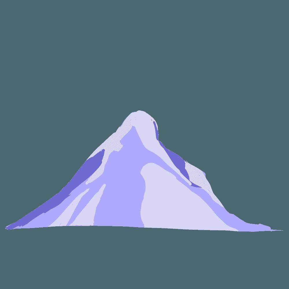 ロッキー山脈風の山イラスト