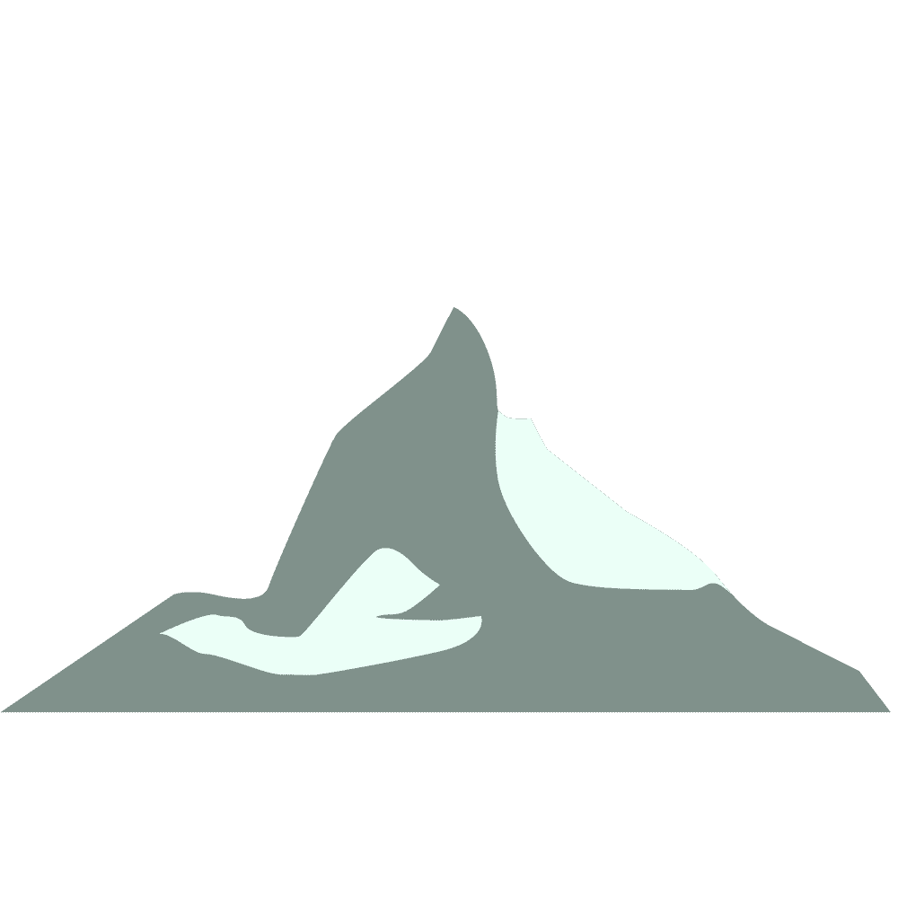 アルプス山脈風の山イラスト