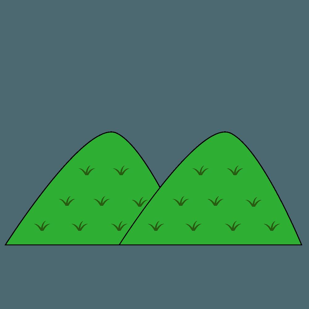 単純な山イラスト