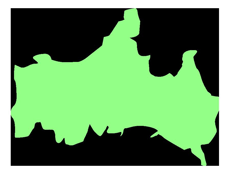 山口県の地図(大陸図)のイラスト