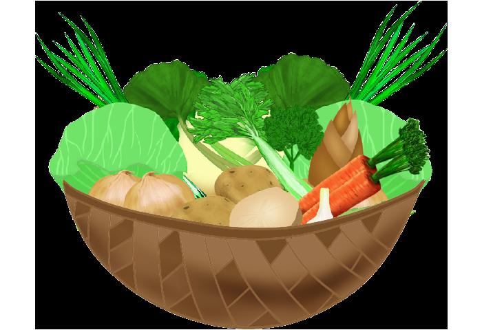 カゴの野菜イラスト3