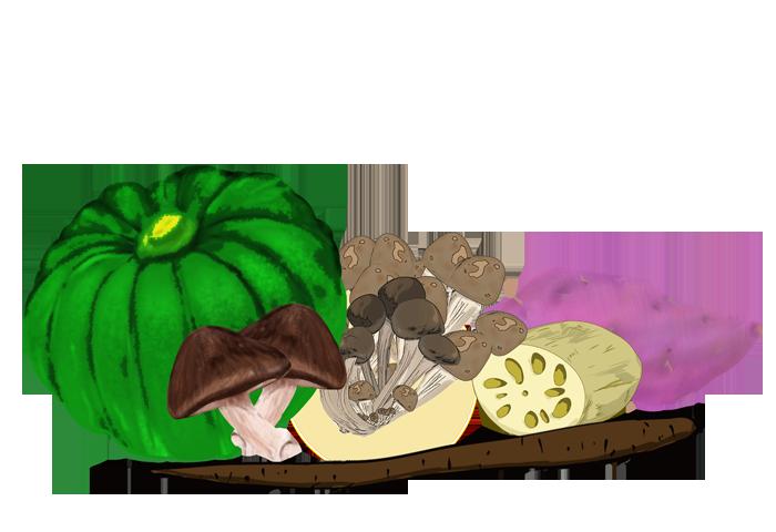 秋野菜のイラスト
